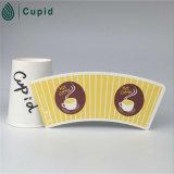 Hztl PE enduit par ventilateur de tasse de papier de 7 onces, conceptions de tasse de papier de café