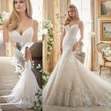 Привлекательный кружевной Русалки дамы свадебные платья устраивающих Gowns (2871)