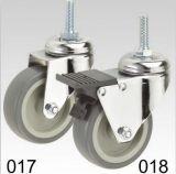 Graue Copolymer-Rad-Schwenker-Gewinde-Stamm-Oberseite-Fußrolle