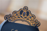 Levering van de Partij van de Zak van de Gift van de Ambacht van de Kroon van de Doos van de Gunst van het Huwelijk van de Dozen van het Suikergoed van de luxe de Marineblauwe Gouden Zoete