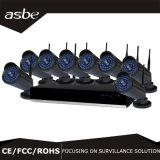 cámara del hogar de la seguridad del CCTV del kit de WiFi NVR del punto negro de 8CH 960p