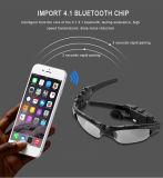 Il vetro di Sun astuto di colori di Bluetooth V4.1 Sunglass 4 di vetro mette in mostra gli occhiali senza fili di Bluetooth dei trasduttori auricolari del telefono di Bluetooth del giocatore di MP3 della cuffia avricolare
