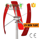300W de verticale Turbine van de Wind van de As voor Huis/Landbouwbedrijf/Boot