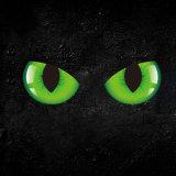 Ojos de gato estéreos de la personalidad del Cuatro-Color, etiqueta engomada del coche