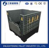 1200x1000mm grande caixa de paletes de plástico dobrável com tampa
