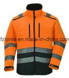 Отражательный высокий Workwear Softshell куртки безопасности видимости