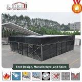 Barraca inflável da estrutura do cubo com tela preta do PVC para eventos