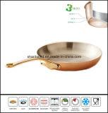 Le cuivre a couvert la poêle à frire