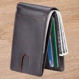 Les petits hommes Slim Wallet Pure titulaire de la carte en cuir de vache Wallet