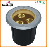 RGB or Warm White Round Mini Small 3PCS LED Underground Light (ICON-D007-3)