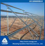 Estructura de montaje de paneles solares para el hormigón del techo de la Plana