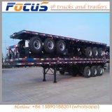 China dat de Vlakke Aanhangwagen van de Vrachtwagen van de Container van het Bed vervaardigt
