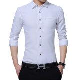 남자의 셔츠 긴 소매 호리호리한 적합 셔츠 우연한 봄 고품질 남자의 셔츠