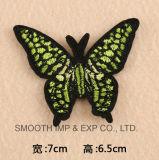 도매 선전용 주문을 받아서 만들어진 형식 Handmade 나비 자수 패치 의류 꽃