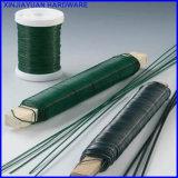 0.63mm 100g Vert fleuriste cuit sur le fil enveloppé dans du bâton en bois