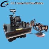 Combo multifunción la transferencia de calor de la máquina de prensa 8en1
