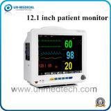 12.1 polegadas seis parâmetros do monitor de pacientes com Ativador de marcapasso