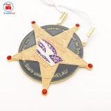 昇進の金属のトークンきらめきの星メダルリボン