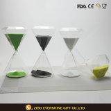 Reloj de arena de cristal de encargo de Sandglass de la dimensión de una variable del diamante para el recuerdo de la promoción
