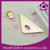 Accessori del hardware della borsa del cuoio della serratura del sacchetto di stile del metallo di figura del triangolo