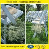 Silla Wedding plegable de Wimbledon de jardín de la resina al aire libre del blanco