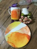 Glacê de cerâmica de chumbo placa plana Oferta Especial Steak Caneca Louça de mesa
