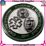 Pièce de monnaie d'enjeu en métal avec la gravure du logo 3D