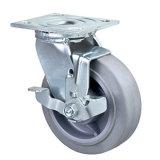 5 Zoll-Hochleistungsschwenker Performa Rad-Fußrolle mit Fußrolle der Bremsen-TPR