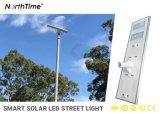 Bateria de lítio 120W do Sensor de infravermelhos integrado piscina em um único LED solares luzes da rua