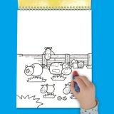Juguetes educativos agua mágica Colorear Libro de Dibujo Pintura escrito Junta actividad Colorear reutilizables.