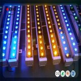 18 PCS Arruela de parede LED RGB de barra de luz de efeito de fundo de casamento