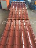 Toits glacés colorés en métal/feuille en acier galvanisée peinte de toiture