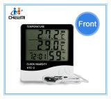 Indicador dobro interno do termômetro de HTC-2 LCD Digital & ao ar livre usado hidrômetro da temperatura