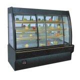 LED Light를 가진 정면 Sliding Door Digital Controller Cake Showcsae/Display Cooler