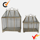 Set 2 Handcraft Vintage Grey Metal Wire Mesh Covers alimentaires