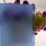 4.8mm Decorative Blue Acid Etched Glass
