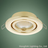 3W 5W GU10 MR16 Laiton LED Downlight encastré dans le plafond réglable