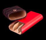 Caixa de tubo de charuto de couro genuíno de marca personalizada