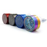 Fabrication 4couches 63mm Rainbow entonnoir en alliage de zinc Herb Grinder avec jeux de labyrinthe