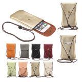 Novo Telemóvel impermeável de couro bag bolsa a tiracolo Wallet bolsa com alça para dinheiro Saco de Telefone