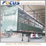 remorque latérale de bétail de moutons de cheval de la frontière de sécurité 50t pour le transport des animaux de cargaison en bloc