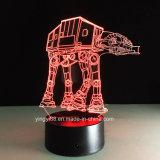 Lámpara de escritorio de la luz de la noche del USB de la ilusión del cambio LED 3D de los colores de Star Wars 7 de la fuente de la fábrica
