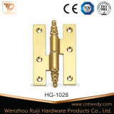 Шарнир приклада вспомогательного оборудования двери Polished латунный для мебели двери (HG-1004)
