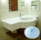 Costruzione Bathroom Under Table Sink con Ceramic Material (SN001)