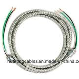 Câble blindé de Mc bande d'acier d'A.W.G. de l'UL 1569 3X10 3X8 3X6/en aluminium