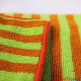 Покрашенное пряжей полотенце чистки Microfiber