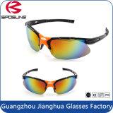 Sports UV400 professionnels protégés par oeil emballant les lunettes de soleil courantes