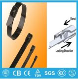 El bloquear inoxidable del uno mismo de la atadura de cables de BZ-c (con el clip el C) Steell
