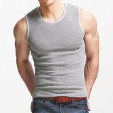 Esporte da forma dos homens que funciona camisas Sleeveless da veste seca rápida T da aptidão