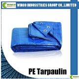 Bâche de protection tissée par HDPE de bâche de protection stratifiée par LDPE, bâche de protection de tissu de PE pour le revêtement